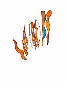 tegninger, grafiske, pop, tegneserier, typografi, grønne, orange, hvide, tusch, akvarel, abstrakte-former, Køb original kunst af den højeste kvalitet. Malerier, tegninger, limited edition kunsttryk & plakater af dygtige kunstnere.