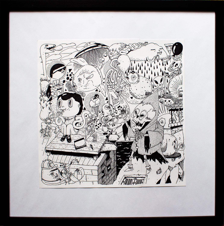 tegninger, børnevenlige, illustrative, monokrome, tegneserier, hverdagsliv, havet, kæledyr, vilde-dyr, sorte, hvide, artliner, papir, tusch, sjove, fugle, sort-hvide, fisk, mad, skitse, Køb original kunst af den højeste kvalitet. Malerier, tegninger, limited edition kunsttryk & plakater af dygtige kunstnere.