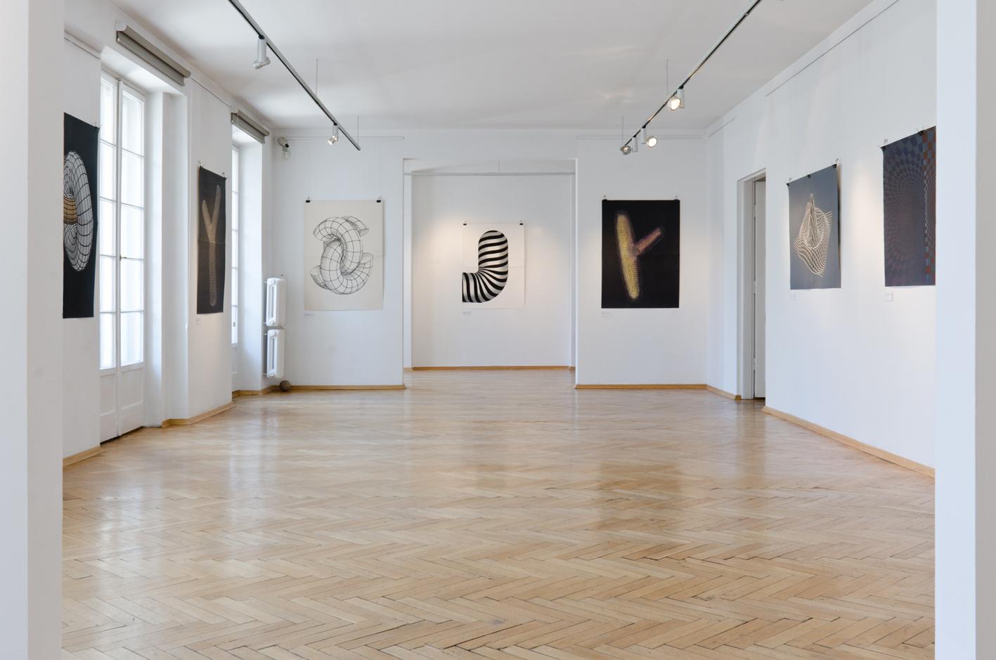 TOROIDAL SPACE linocut_Doctorate exhibition