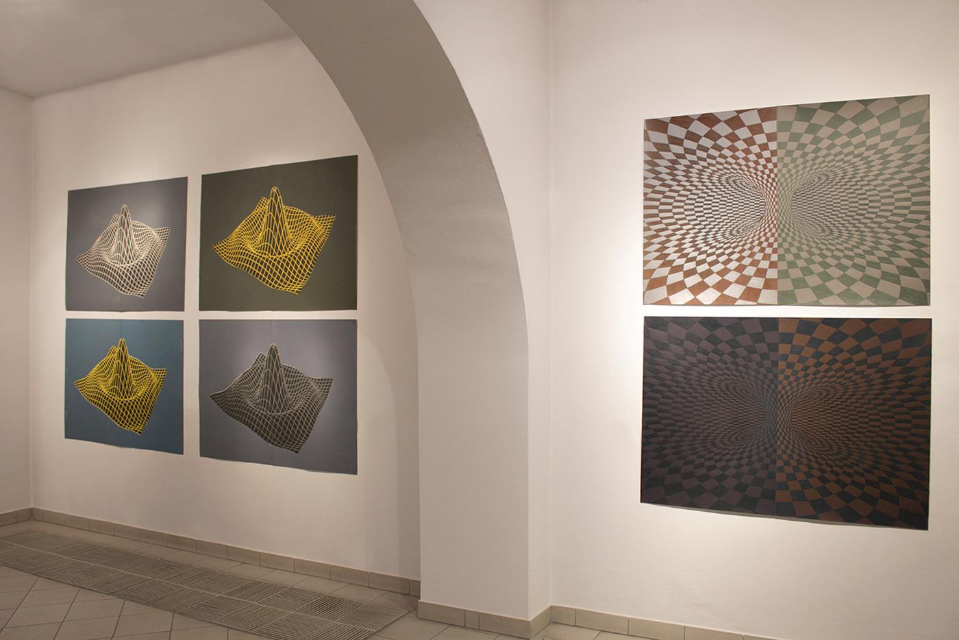 TOROIDAL SPACE linocut_exhibition