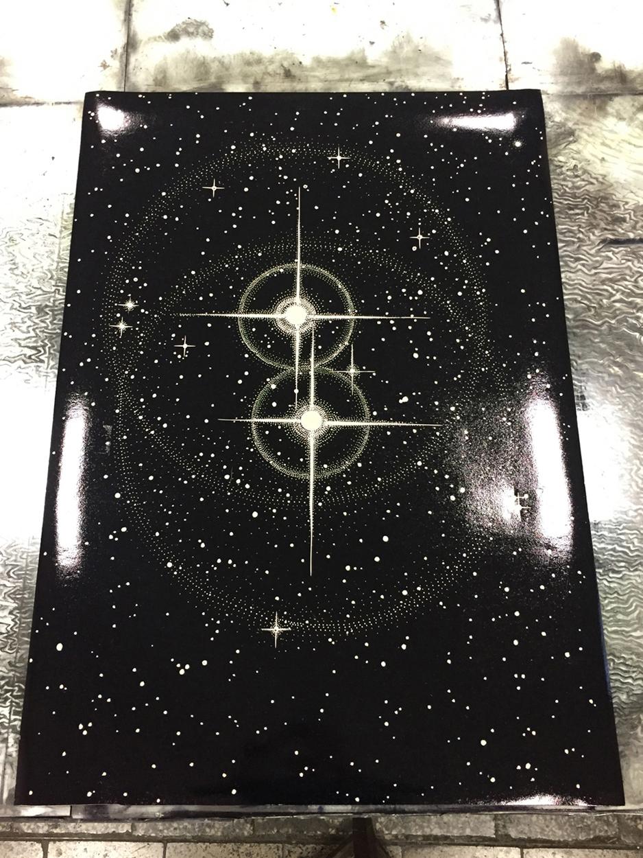 TWIN STARS linocut_stencil