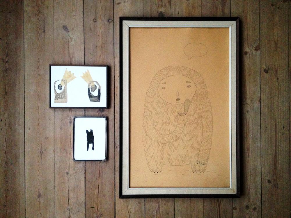 gallerier original tegninger, abstrakt illustration kunst i alle former, gaveide, boligindretning
