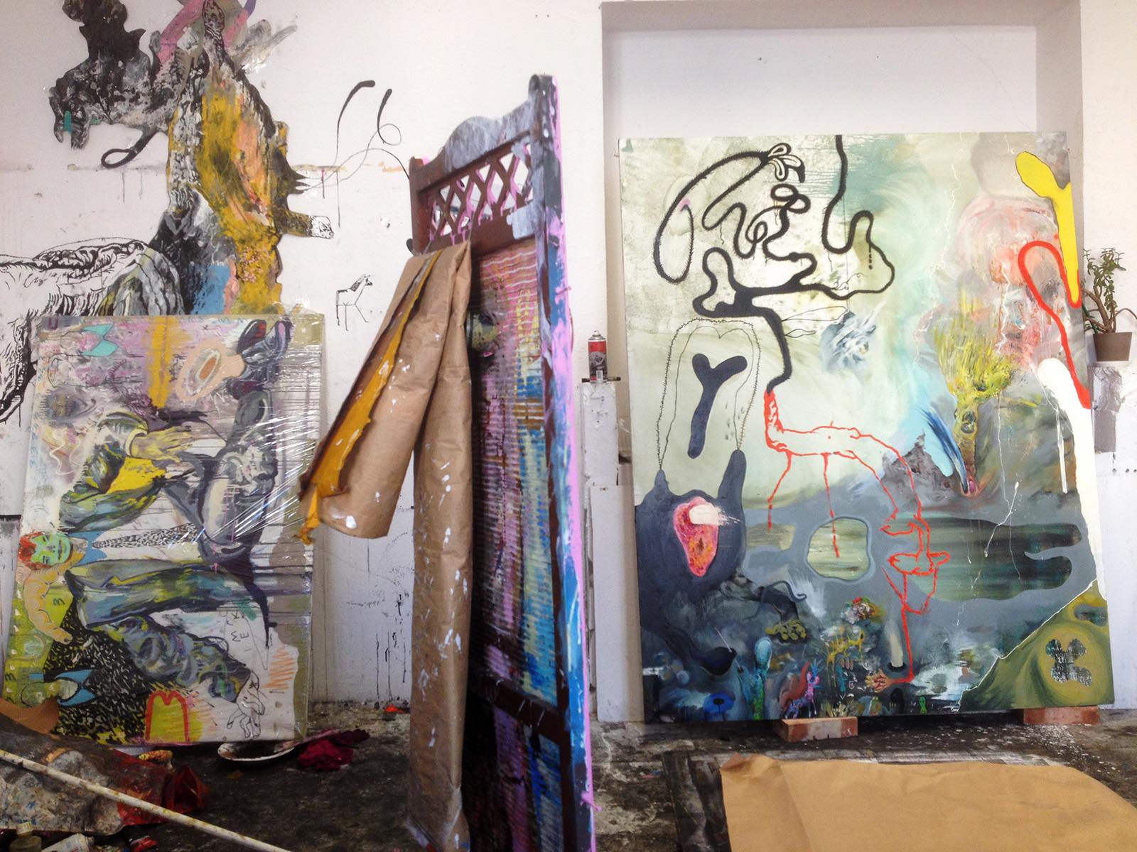 Picasso, Gustav Klimt, Large oil paintings
